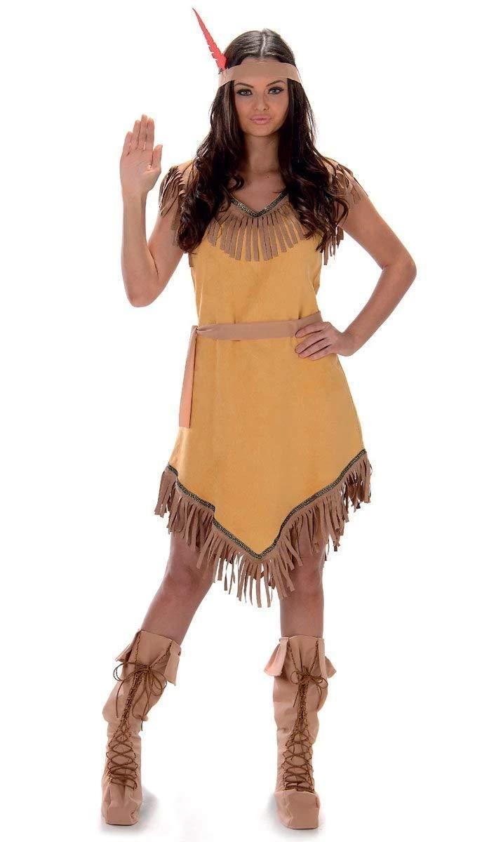 Karnival- Indian Girl Costume Disfraz, Color marrón, small (81048 ...