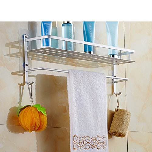 hot sale 2017 Wall bathroom racks and suction-wash/Bathroom shelf with towel bars/Bathroom racks-A