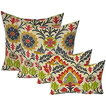 Outdoor Decorative Pillow Sets : Amazon.com : Set of 4 Indoor / Outdoor Decorative Lumbar / Rectangle Pillows - 2 Splish Splash ...