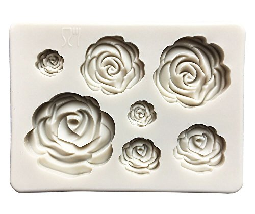 (Roses Collection Fondant Candy Silicone Mold, Flower Fondant Mold for Sugarcraft Cake Decoration, Cupcake Topper, Polymer Clay, Soap Wax Making Crafting Projects)