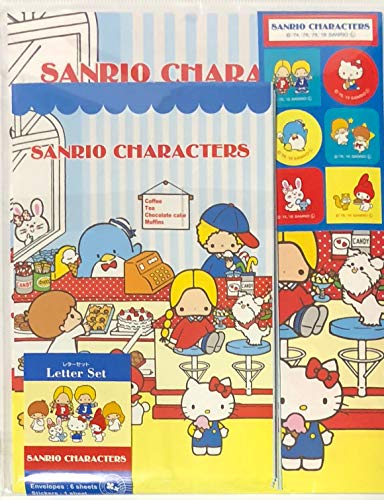 - Sanrio Characters Hello Kitty My Melody Little Twin Stars Patty&Jimmy Bunny&Matty Letter Set 12 Writing Paper + 6 Envelopes + 7 Stickers Stationary Japan (Parlor)