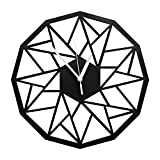 VIXU Reloj Amazonas - Reloj de pared MDF - Decoración Hogar - Geometric clock