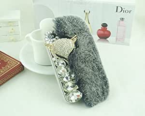 Furry Fox Series iPhone 5 and 5S Crystal Case - Stylish Gray