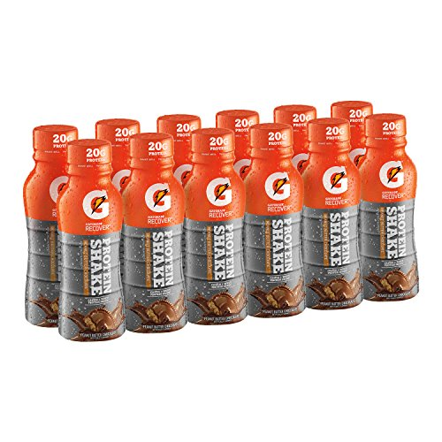 Gatorade Recover Protein Shake,  Peanut Butter Chocolate, 11.16 Ounce Bottles (Pack of 12)