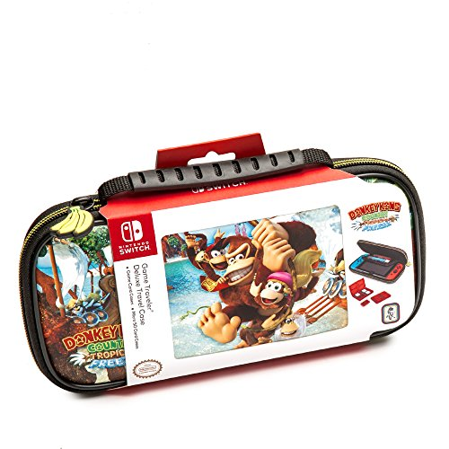 Nintendo Switch Donkey Kong Carrying Case - Protective Deluxe Travel Case - PU Leather Exterior - Official Nintendo Licensed Product Deluxe Leather Protective Case