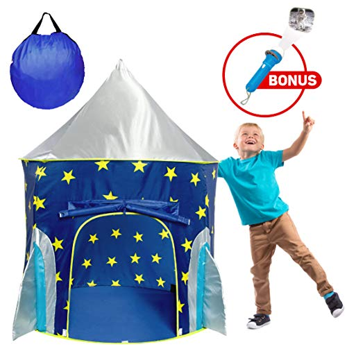 USA Toyz Rocketship Play Tent for Boys and Girls...