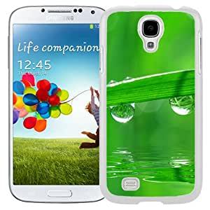 New Beautiful Custom Designed Cover Case For Samsung Galaxy S4 I9500 i337 M919 i545 r970 l720 With Green Dew (2) Phone Case