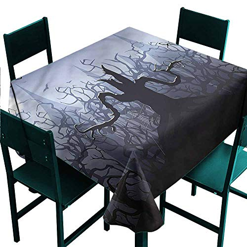 DONEECKL Restaurant Tablecloth Halloween Dark Forest with Swirl Easy to Clean W36 xL36]()