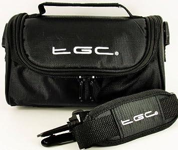 Full Dreamy Blue Denim TGC /® Camera Case for Panasonic Lumix DMC-GF1-K//PC with shoulder strap and Carry Handle