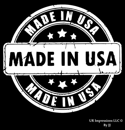UR Impressions Made in The USA Stamp Decal Vinyl Sticker Graphics for Cars Trucks SUV Vans Walls Windows Laptop Tablet|White|5.5 X 5 inch|JJURI070
