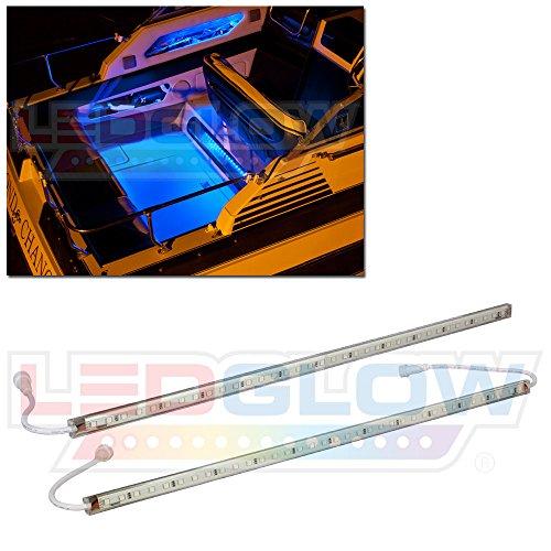 LEDGlow 2pc Blue LED Boat Marine Deck Under Gunnel & Cabin Accent Lighting Kit - 24