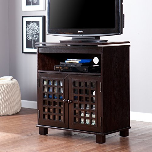 Southern Enterprises Narita Swivel Top Media Stand - Classic Espresso