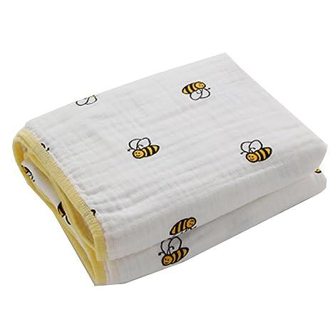 Hehong Thicken Muslin Toallitas para bebé y niños Swaddle Blanket Toalla de recién nacido y baño