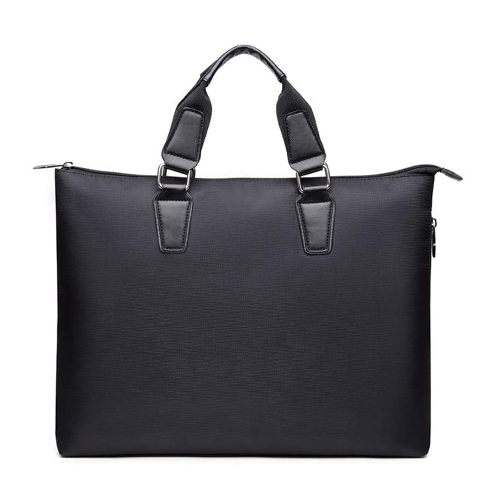 QARYYQ Business Briefcase Mens Waterproof Oxford Cloth File Bag Fashion Tote Bag Black Business Briefcase