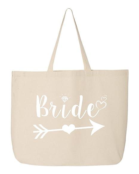 Amazon.com: Shop4Ever Bride Heart Arrow - Bolsa de lona para ...