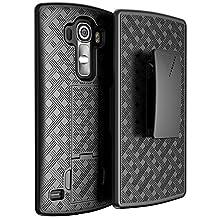 LG G4 Case, Black Swivel Slim Belt Clip Holster Armor Protective Case, Defender Cover (SHELL HOLSTER COMBO) (BLACK HOLSTER SHELL COMBO)