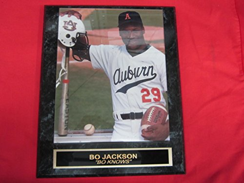 Bo Jackson Engraved Collector Plaque w/8x10 Baseball Football (Auburn Tigers Photo Plaque)