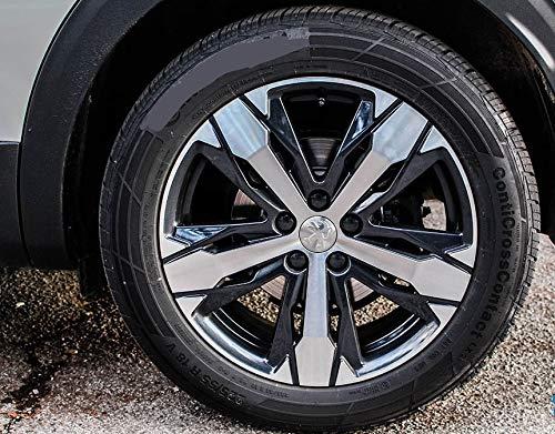 Tapacubos Peugeot de 60 mm con Llavero Homage 108 206 207 208 307 308 508 3008 Traveler Tapas centrales para Llantas de aleación: Amazon.es: Coche y moto