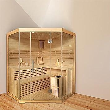 Top Eck-Sauna für 4 Personen, B 1,8m, mit Sternenhimmel: Amazon.de OR28