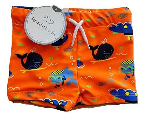 Koala Kids Infant Boys Orange Whales & Submarines Swim Trunks Board Shorts 3-6m by Koala Kids
