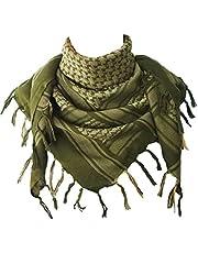 Explore Land Cotton Military Shemagh Tactical Desert Keffiyeh Scarf Wrap (Foliage)