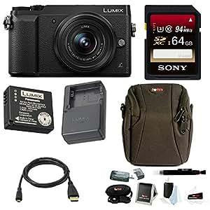 Panasonic Lumix DMC-GX85 Mirrorless Digital Camera w/ 12-32mm Lens & Sony 64GB Memory Card & Accessory Bundle
