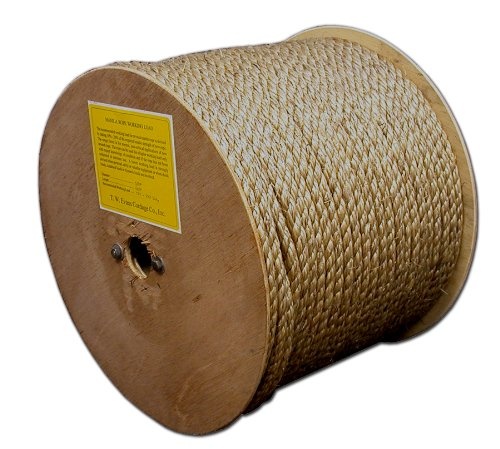 T.W . Evans Cordage 25-066 3/4-Inch by 300-Feet Pure Number-1 Manila Rope Reel [並行輸入品] B00DKA3RPM