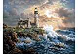 Blxecky 5D DIY Diamond Painting By Number Kits,lighthouse(14X18inch/35X45CM)