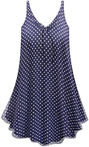Navy & White Polka Dots Print A-Line Plus Size Supersize Lined Sheer Top