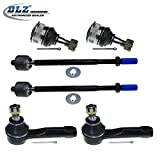 DLZ 6 Pcs Front Suspension Kit-2 Lower Ball Joint, 2 Outer 2 Inner Tie Rod End for 1995 1996 1997 1998 Nissan 200SX, 1995 1996 1997 1998 1999 Nissan Sentra