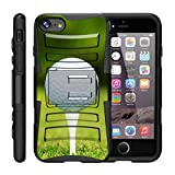 "TurtleArmor | Apple iPhone 7 Case | (4.7"") [Hyper Shock] Armor Hybrid Cover Kickstand Impact Holster Belt Clip Sports and Games Design - Golf Ball Tee"