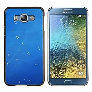 For Samsung Galaxy E7 E700 Case , Blue Water gota 1- Diseño Patrón Teléfono Caso Cubierta Case Bumper Duro Protección Case Cover Funda