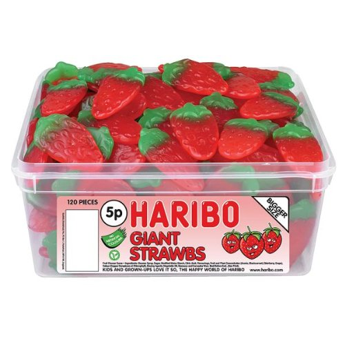 Haribo Giant Strawberrys 120 Pieces - Haribo Strawberry Candy Shopping Results