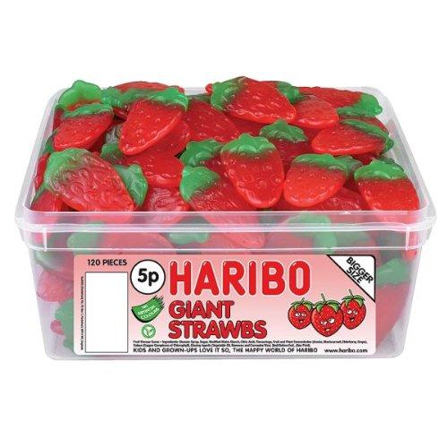 Haribo Giant Strawberrys 120 - Strawberry Haribo