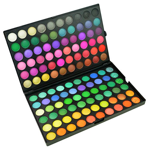 Jmkcoz Eye Shadow 120 Colors Eyeshadow Eye Shadow Palette Colors Makeup Kit Eye Color Palette Halloween Makeup Palette Matte and Shimmer Highly Pigmented Professional Cosmetic ()