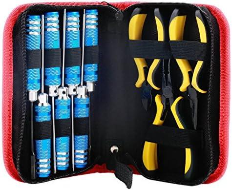 XIYI 10の1修復ツール六角レンチスクリュードライバプライヤーキットボックスセットポータブルパッケージとRCモデルのおもちゃ 10個/セット