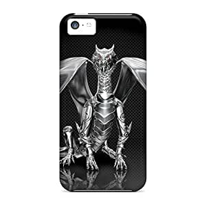 LJF phone case Hot Snap-on Chrome Dragon Hard Cover Case/ Protective Case For Iphone 5c