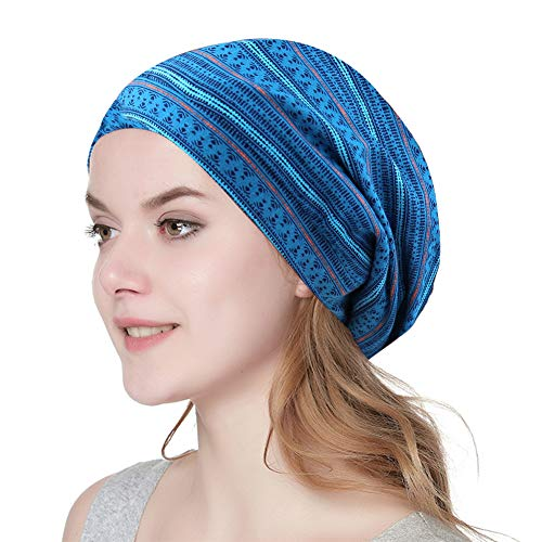 Alnorm Slouch Skullcap Beanie Satin Lined Knitted Cap Large