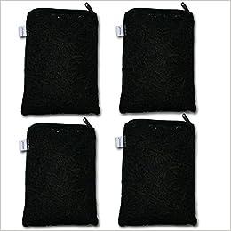 Aquapapa 4 lbs Activated Carbon Charcoal Pellets in 4 Mesh Bags for Aquarium Fish Tank Koi Reef Filters