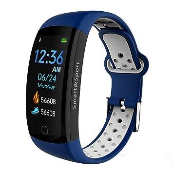 Fitness Tracker, Pulsera Inteligente Podómetro Reloj Paso, Contador De Calorías Anti-Acuarela Pantalla De Actividad Tracker Ritmo Cardíaco Tensiómetro: ...