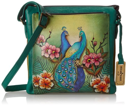Anuschka 520 Shoulder Bag,Passionate Peacocks,One Size by ANUSCHKA