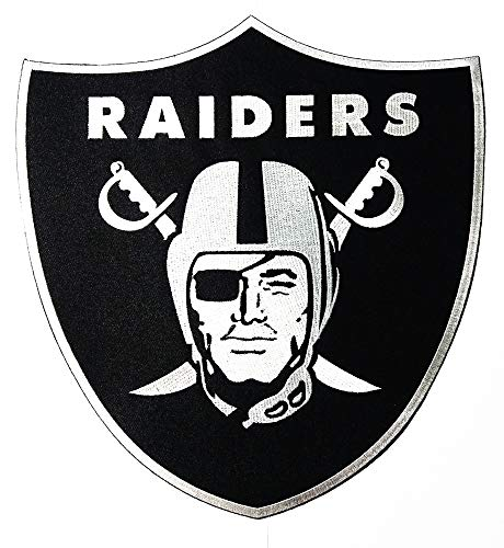 Big patch Large Team Sport American Football NFL Logo Patch Embroidered Sew Iron On Patches Badge Bags Hat Jeans Shoes T-Shirt - Raiders Nfl Applique