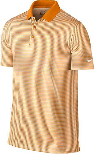 Nike Victory Mini Stripe Men's Golf Polo (Bright Ceramic/White, Small) ()