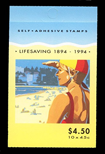 1994 Australia Centenary of Lifesaving 1894-1994 10 x 45c Self Adhesive Stamp Booklet