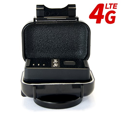 Spy Spot 2018 New 4G LTE GL300MA Portable GPS Tracker with Real Time Live Locator Includes Magnetic Weatherproof Case