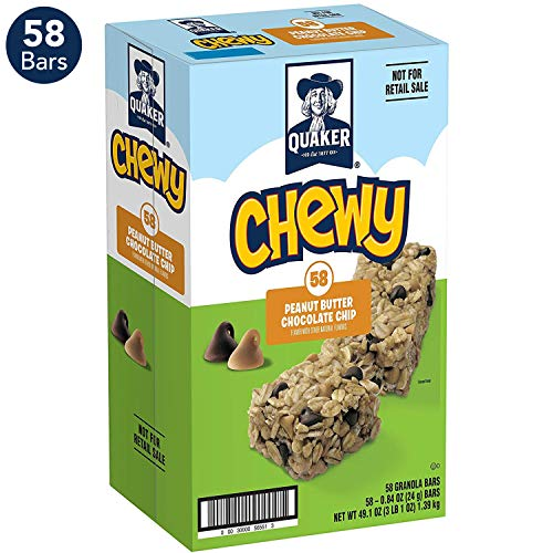 Giant Chocolate Peanut - Quaker Chewy Granola Bars, Peanut Butter Chocolate Chip (58 Bars)
