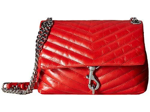 Rebecca Minkoff Women's Edie Crossbody Bag, Tomato, Red, One Size (Crossbody Bags Leather Non)