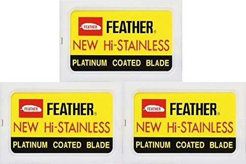 30 Feather Razor Blades NEW Hi-stainless Double Edge