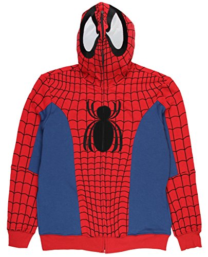 Marvel Spider-Man Civil War Comic Costume Full Zip Hoodie (X-Large)