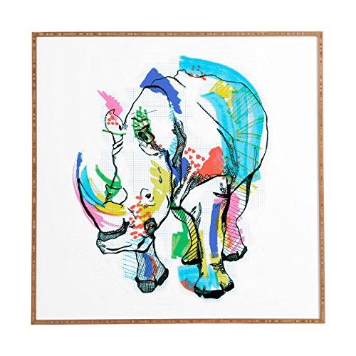 Deny Designs Casey Rogers, Rhino Color, Framed Wall Art, Medium, 20